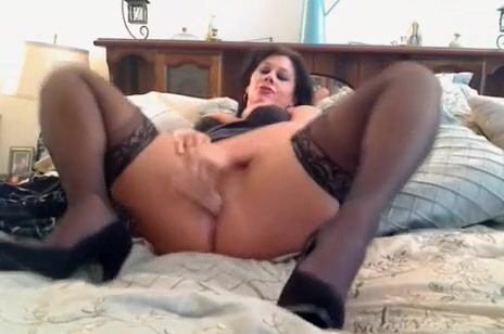 Best homemade Mature, Stockings sex video Hot milf in glasses enjoys partly clothed anal fucking