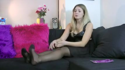 Crazy Stockings, Fetish porn clip Real Mom Giving Head