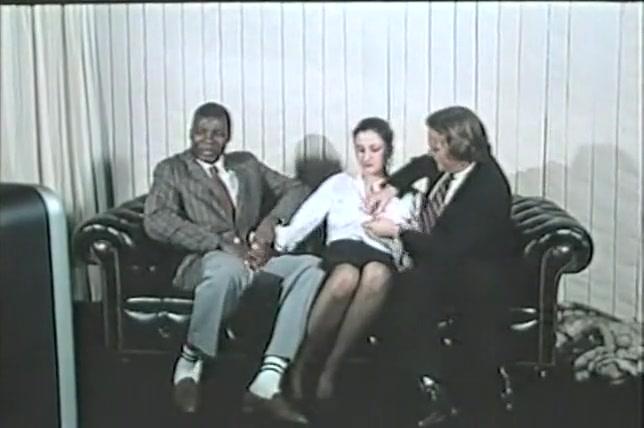 Fabulous Interracial, Brunette adult scene Hot milf fuckrd in dress
