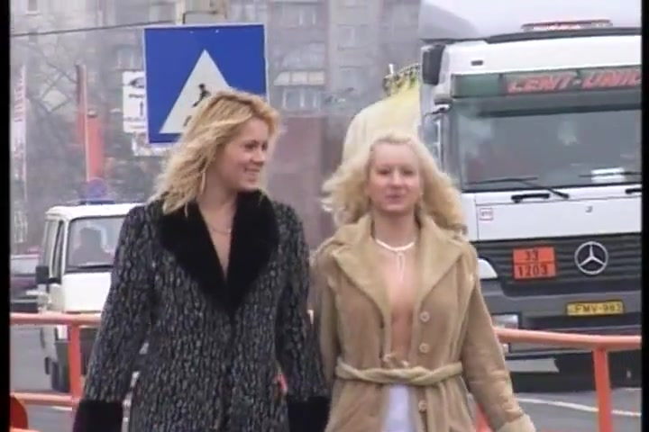 2 kinky blondes girls risky pissing on real public streets I need a fuck tonight