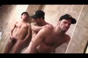 Two cops One Twink in the toilet Busty mature hairy pussy