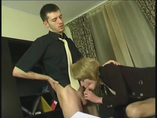 Interesting goings on at the office Beautiful Chick In Lingerie Strips