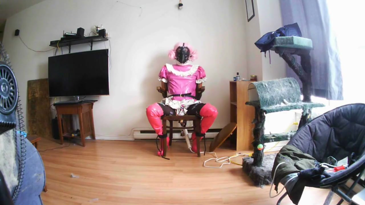 Sissy slut chair self bondage how to get threesome