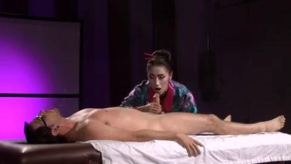 Beautiful Asian Geisha (Full Massage with Footjob) massage leads to gay sex