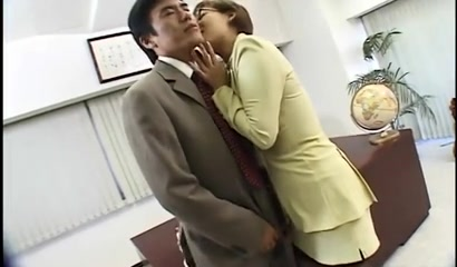 Japanese Lady Boss Horny at the Office sexiest porn video ever made