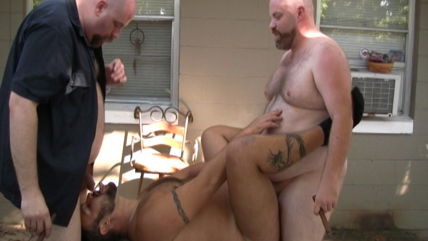 Budd Lawson, Bud Stiffy and Boswell Bear - BearFilms hot nasty dirty xxx feet fucking