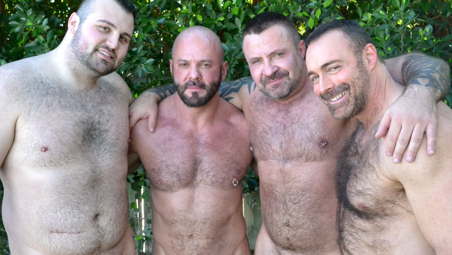 Brad Kalvo, Rex Blue, Marc Angelo and Carlo Cox - BearFilms Want a cool girl in Santo Domingo