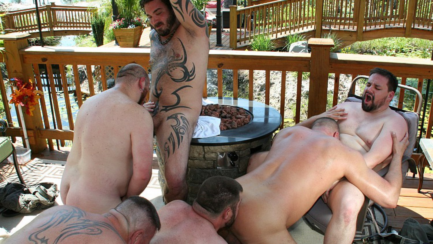 Roys Hideaway -- Six Bear Orgy video - BearFilms Bow wow soulja boy nude