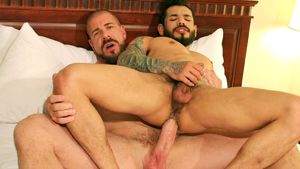 Rocco Steele and Draven Torres - BarebackThatHole Ebony solo outside