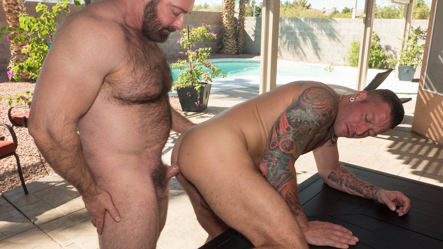 Brad Kalvo and Hugh Hunter - HairyAndRaw Forced Pussy Expose