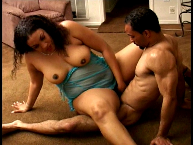 Large darksome mommy team-fucked hard