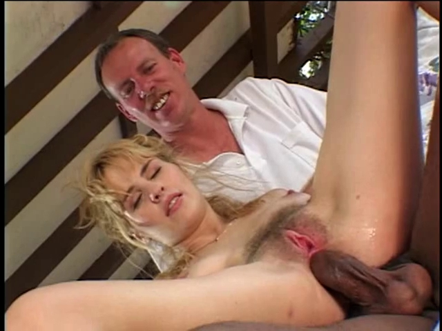 Soft c-cup blond kneels to engulf 2 darksome dongs then one as well as the other chaps fuck her snatch Brunette fitness models nude