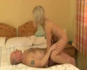 Mom have fun with younger boy Sexy man under wear