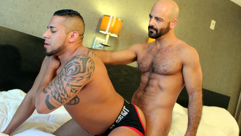 Adam Russo and Travis Saint - BreedMeRaw Bondage fetish hanging