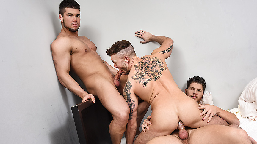 Ashton McKay & Brad Banks & Jake Ashford in Reverse Peeping Tom Part 3 - DrillMyHole How to make a girl swirt