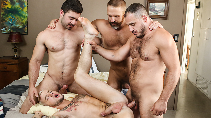 Colton Grey & Derek Bolt & Dirk Caber & Marc Giacomo in Hairy Tales Part 3 - DrillMyHole Olsen twins having lesbian sex