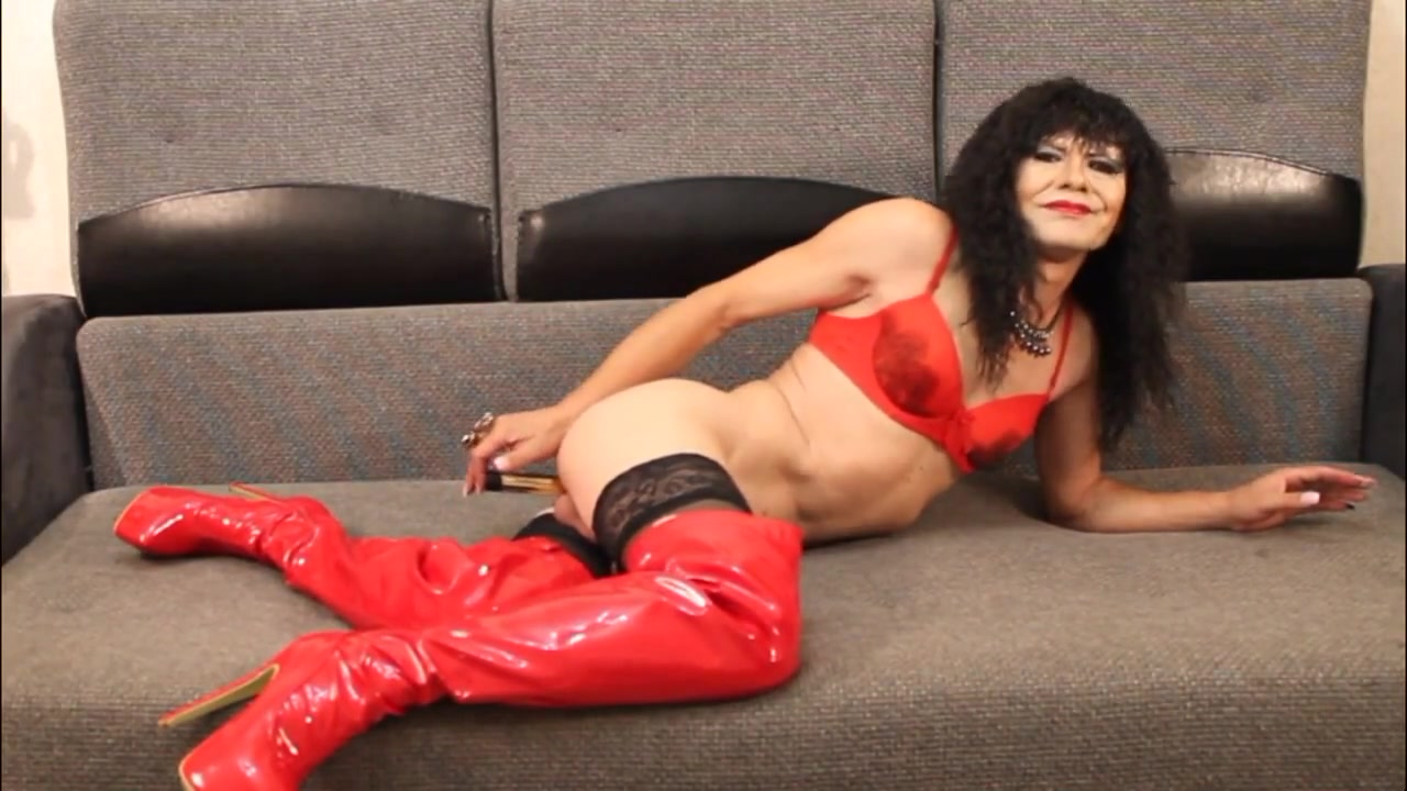 With red boots Sexy native indian boobs
