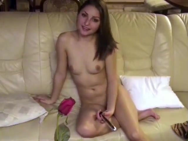 COLLEGE GIRL IOANA IS PLAYING WITH HER FIRST SEXTOY Nude women strip and have sex porn
