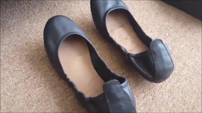 Wifes sexy new laether pumps got stiff cock Images of pussi sex