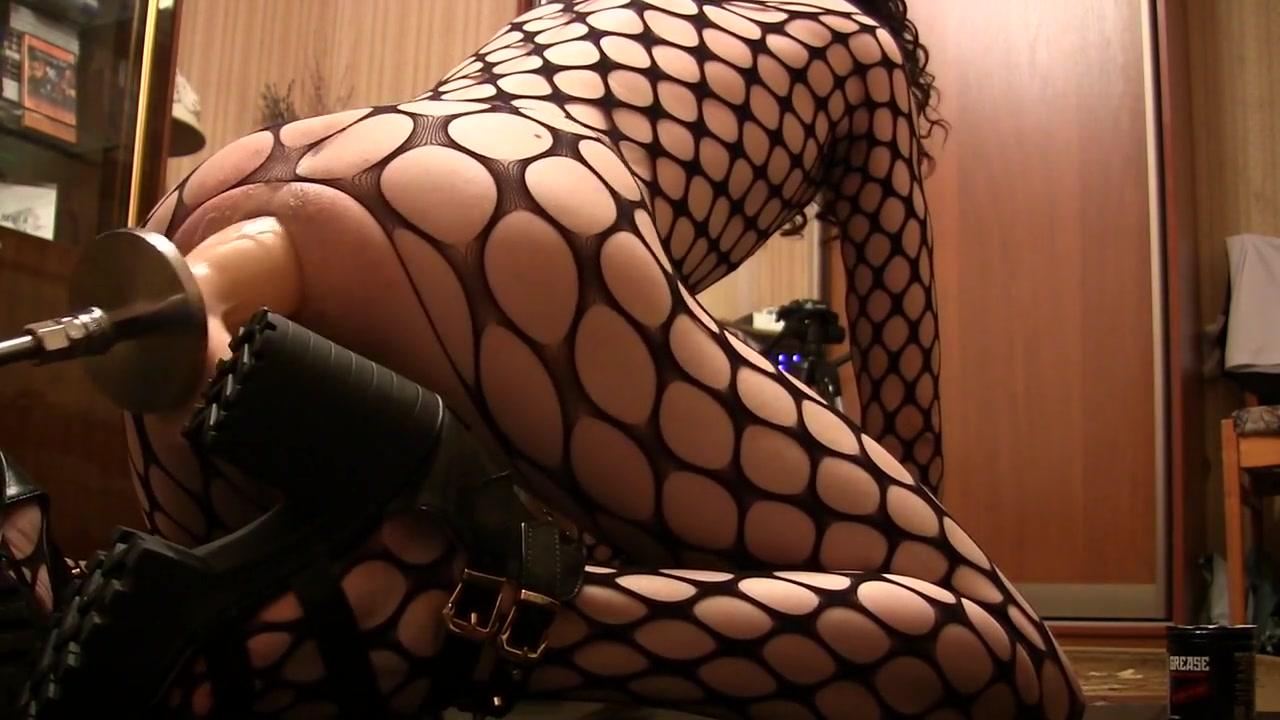 Sissy - big inflatable dildo in asshole Classy cougar masturbates