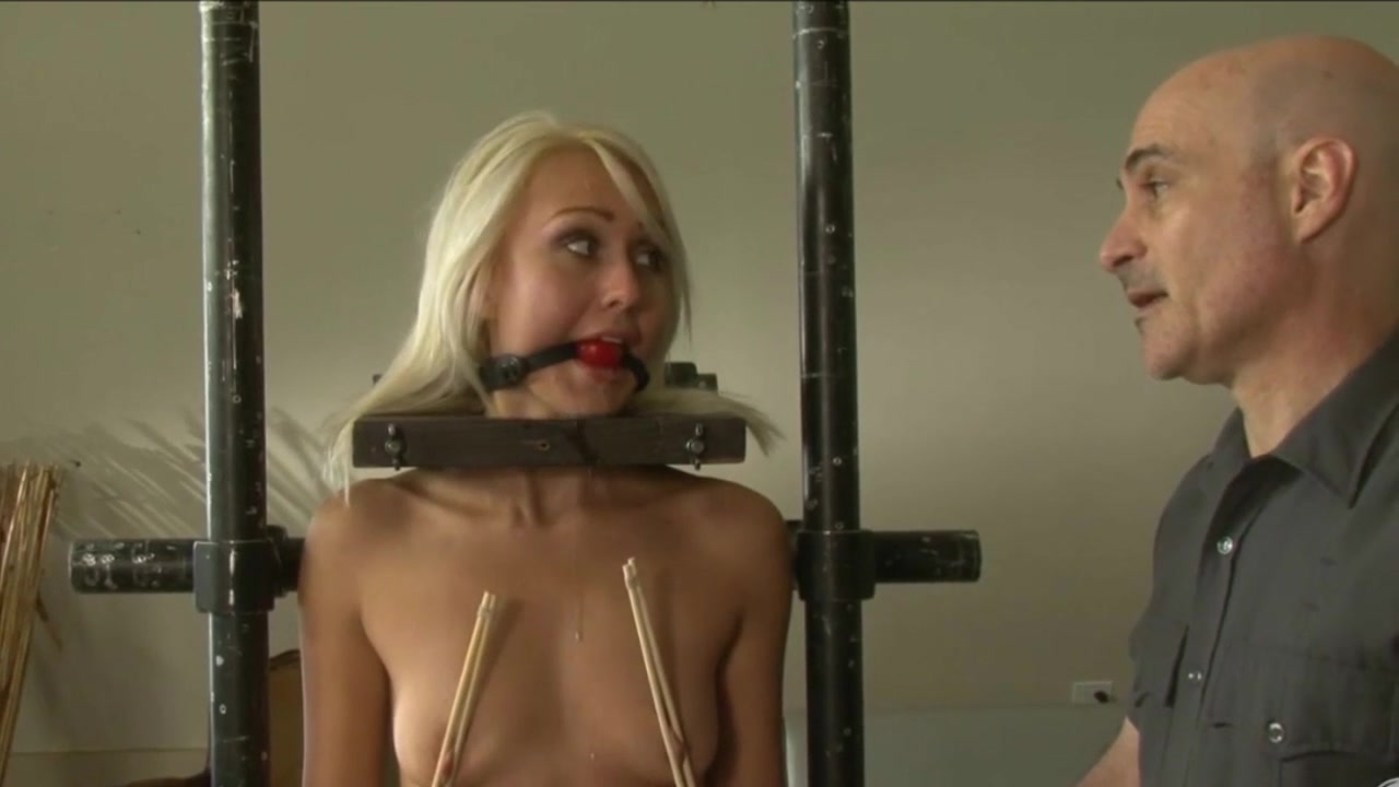 blond slave is worked over 1 of 2 sex on a bike video