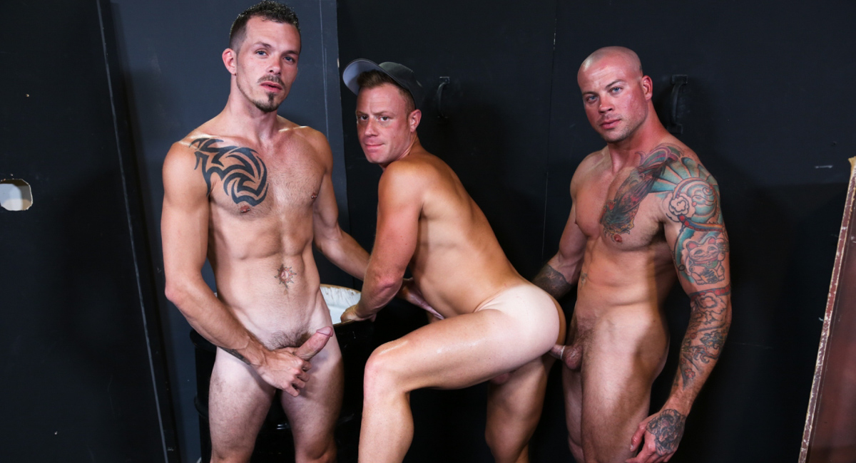 Sean Duran & Jimmie Slater & Saxon West in Warehouse Hookup Part 3 Video - ExtraBigDicks no membership free blow job videos