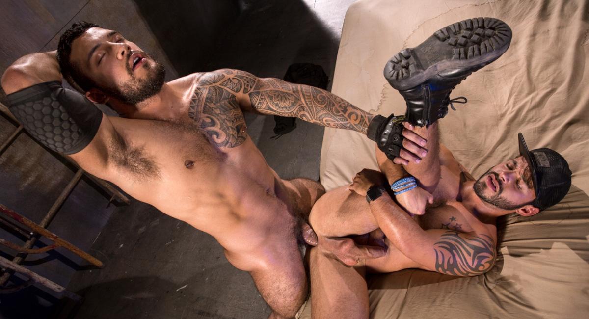 Rafael Lords & Ryan Cruz in Wasteland, Scene #03 - RagingStallion gay muscle men with big dicks