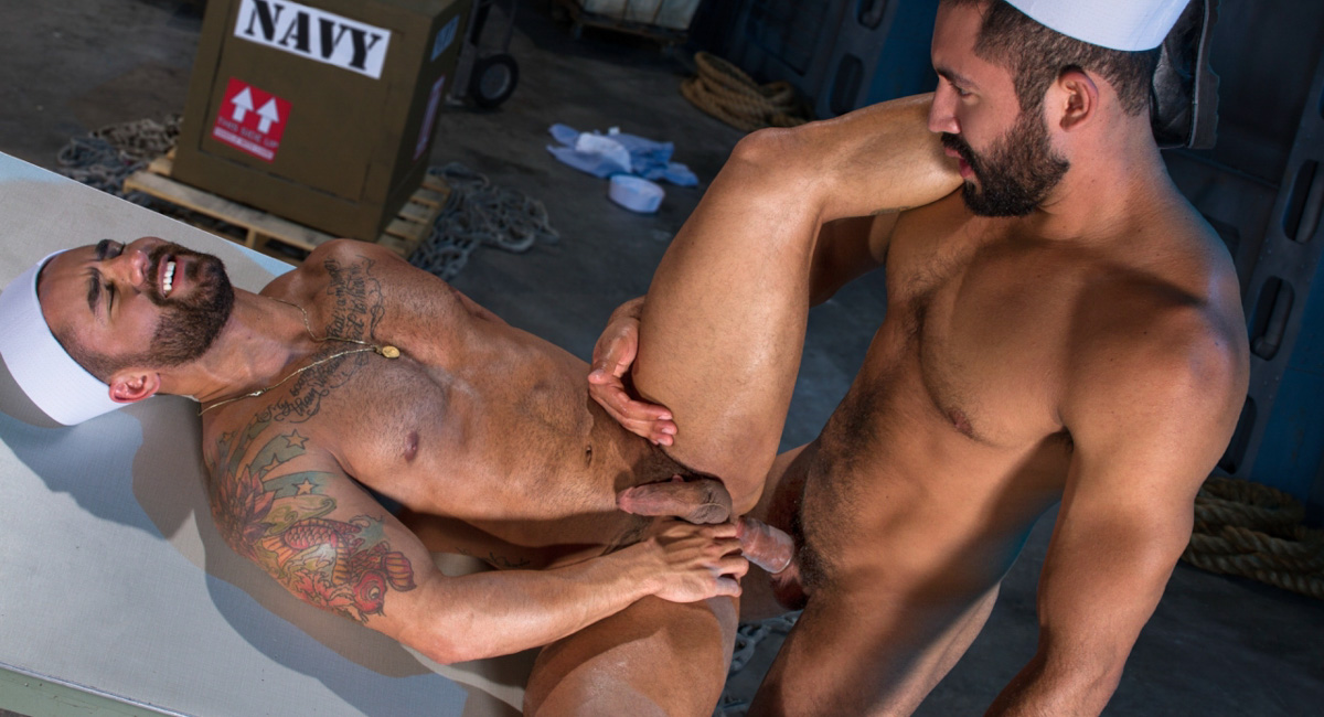 Bruno Bernal & Gabriel Taurus in Destroyer, Scene #04 - RagingStallion Extra horny mature