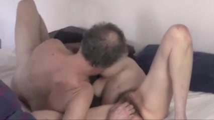 Hairy older amateur couple 69 and fuck