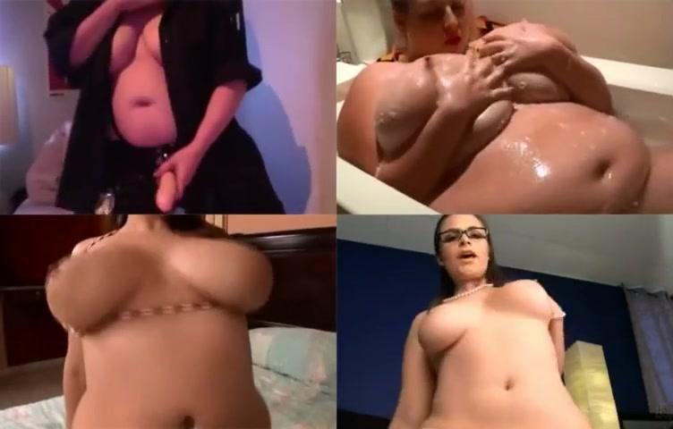 Bbw busty chubby belly in 4d