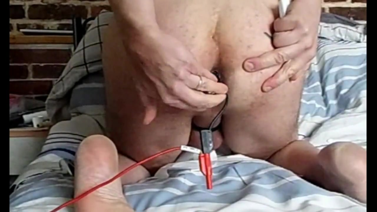 E-stim rosebud anal and conductor around foreskin Tori Lee Fuck