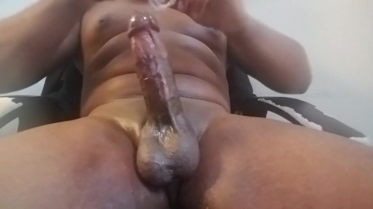 Thickblackoilycock messy cum session Uncensored Asain Pussy