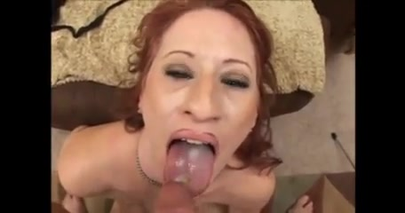 Red head cocksuck swallow