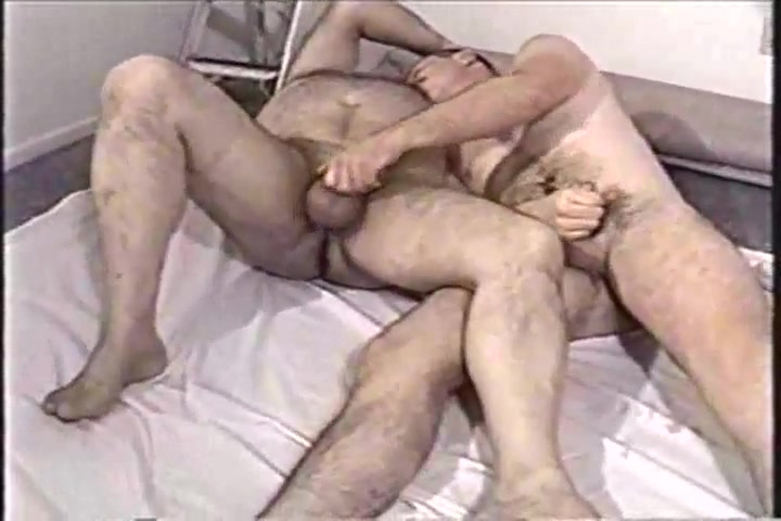 A younger men and older man playing with each other dick wouldn t fit in her pussy