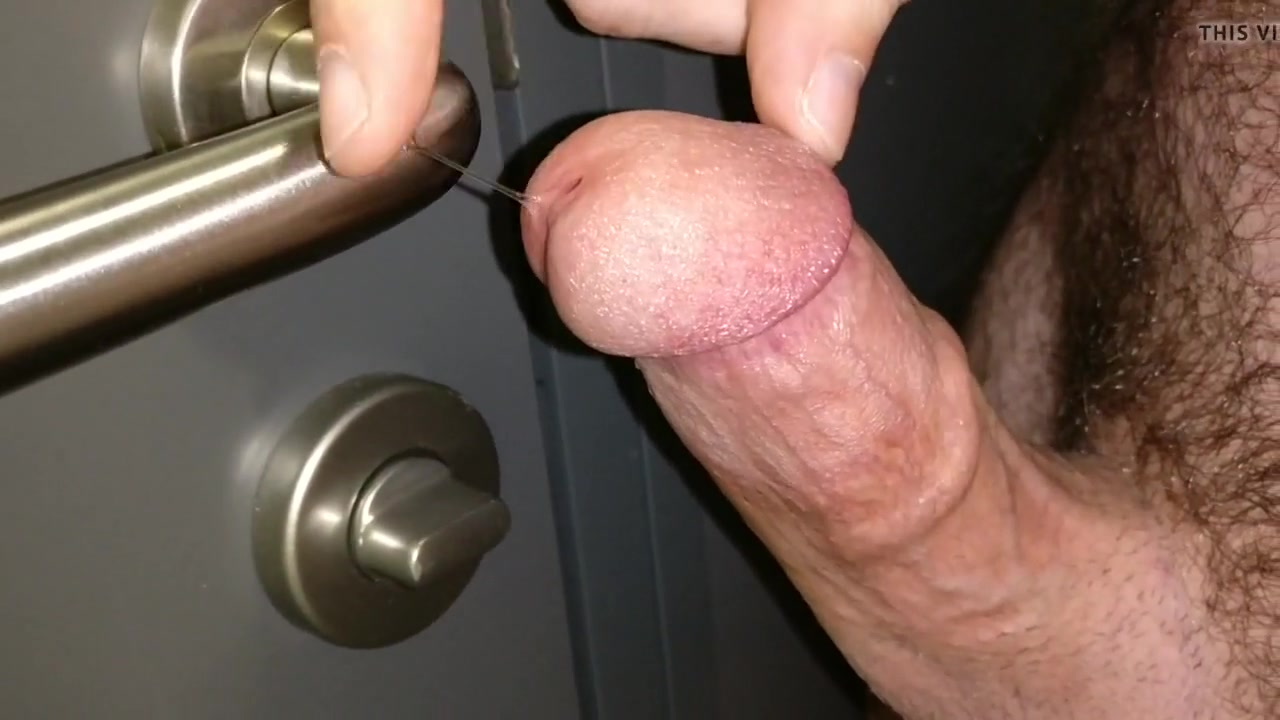 Thick cock - messy cum in public toilet door handle gay richmond virginia club