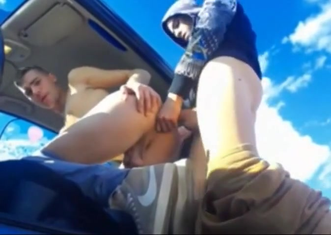 Fuck his bf on car first time annal porn