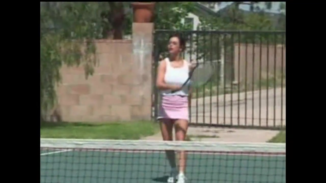 Tennis match busty brunette havingsex and sucking cock
