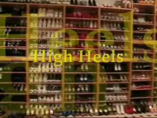 High heeled fever! Blonde hair color for men