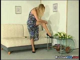 Russian Girl Wearing Pantyhose