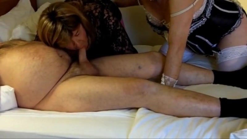 Crossdresser s amber and kitt share their first cock 4-12-17 Big black mama vagina boobs
