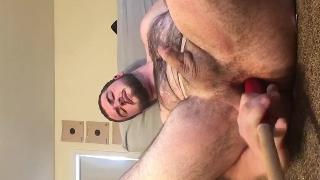 Gay boy stuffs hole with a bat big titted milf wants cum