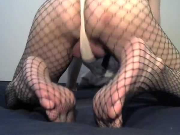 Crossdresser in white panties and fishnet suit price is right nip slip