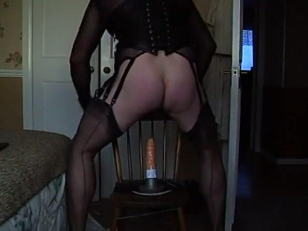 Fucking my dildo in fully fashioned nylons Mel b pussy