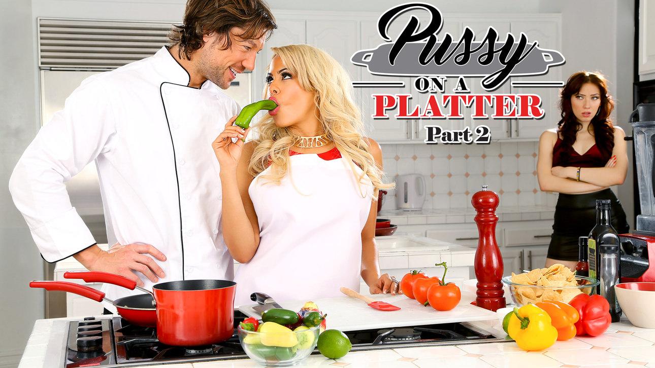 Aria Alexander & Jean Val Jean & Luna Star in Pussy On A Platter Part 2 - DigitalPlayground Old with milf lesbian porn