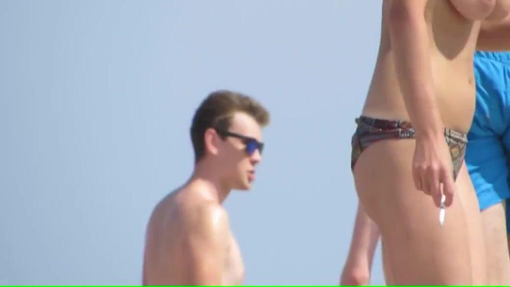 Nice boobs on the beach boys nude in public