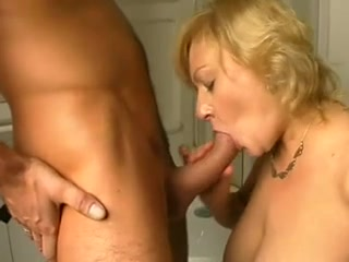 Blonde MILF sucks and fucks passionately