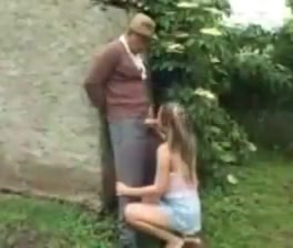 Grandpa takes care of her cute little bush ! hot lebians having sex