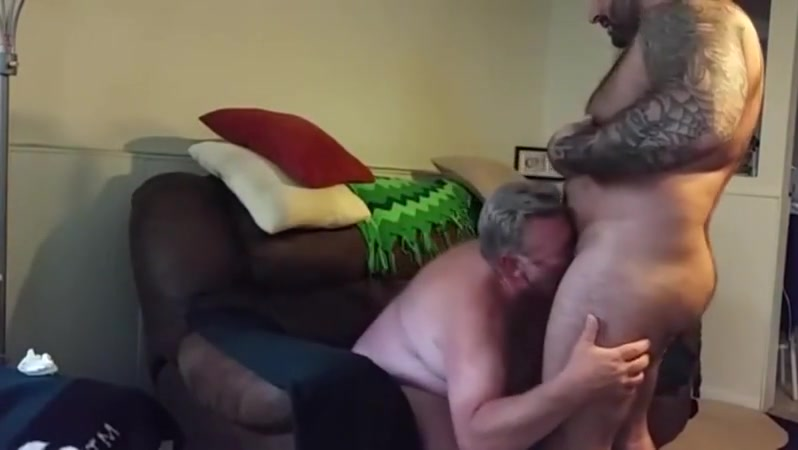 Chubby daddy gets fucked Transformed into a dildo