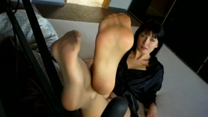 Agas Feet in Hose Nude woman and duck