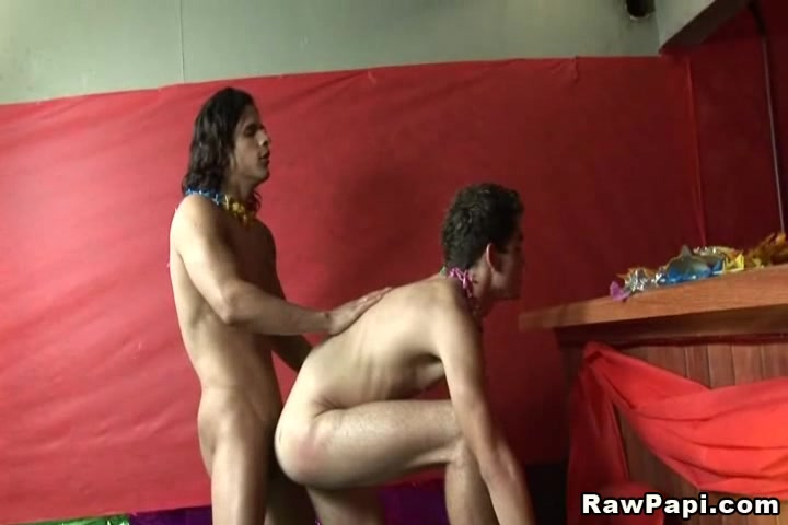 Horny Gay Latino Party With Bareback Fucking Cum On Ass Clips